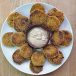 Fried Green Tomatoes with Sweet Dijon Sauce