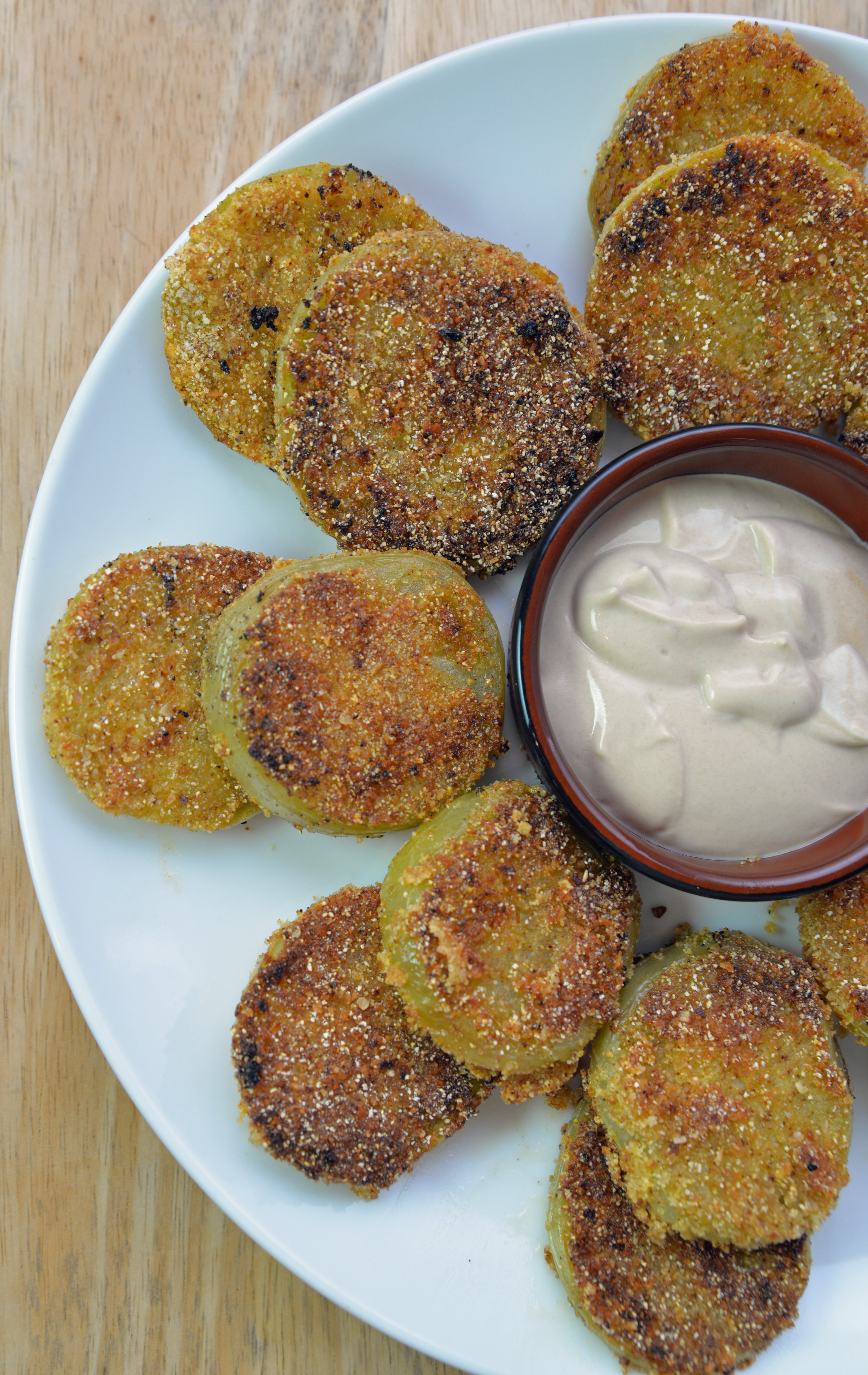 Fried Green Tomatoes with Sweet Dijon Dipping Sauce