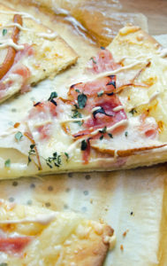 Ham and Swiss Cheese Pizza with Dijon Sauce