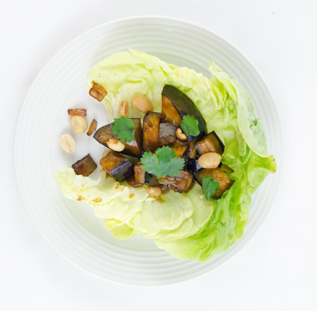 Spicy Eggplant Lettuce Wrap