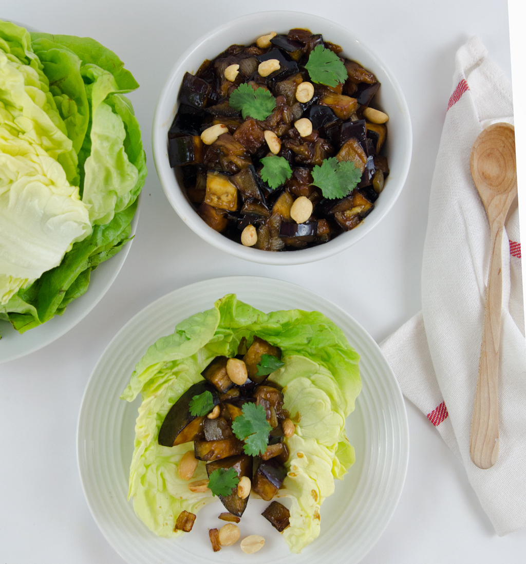 Spicy Lime And Herbed Tofu In Lettuce Cups Recipe — Dishmaps