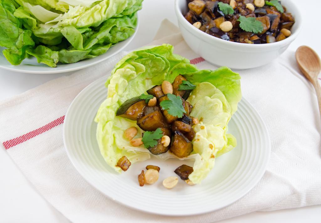Vegetarian Eggplant Lettuce Wraps