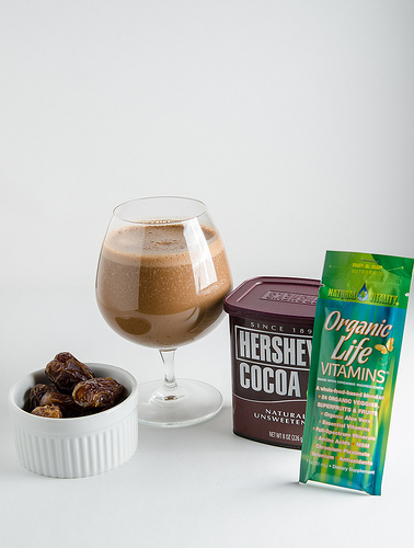 No Sugar Added Spiced Chocolate Smoothie