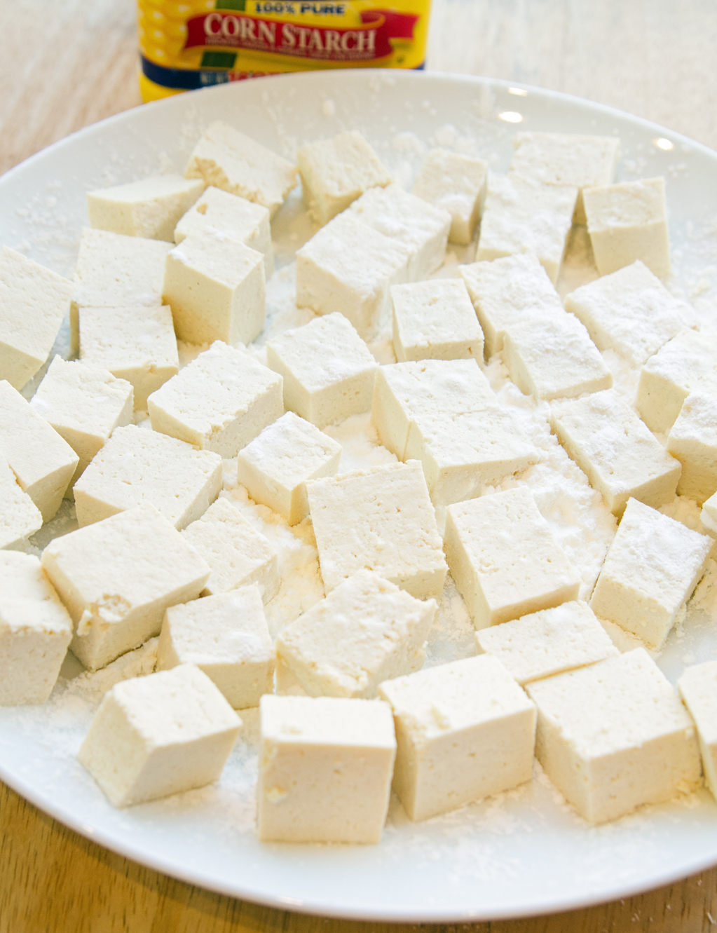 Corn Starch Dusted Tofu