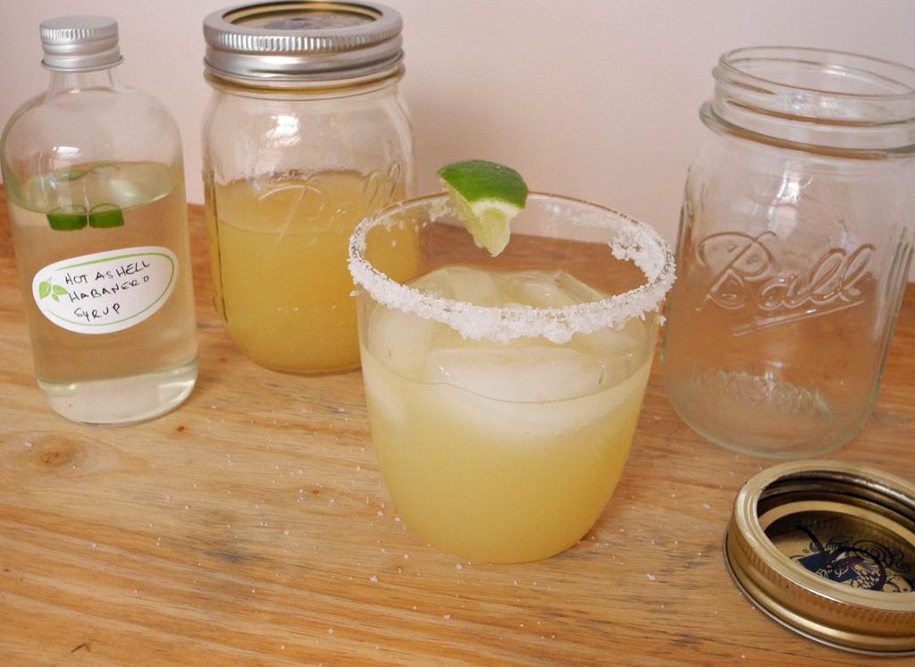 Spicy Margarita in Mason Jars