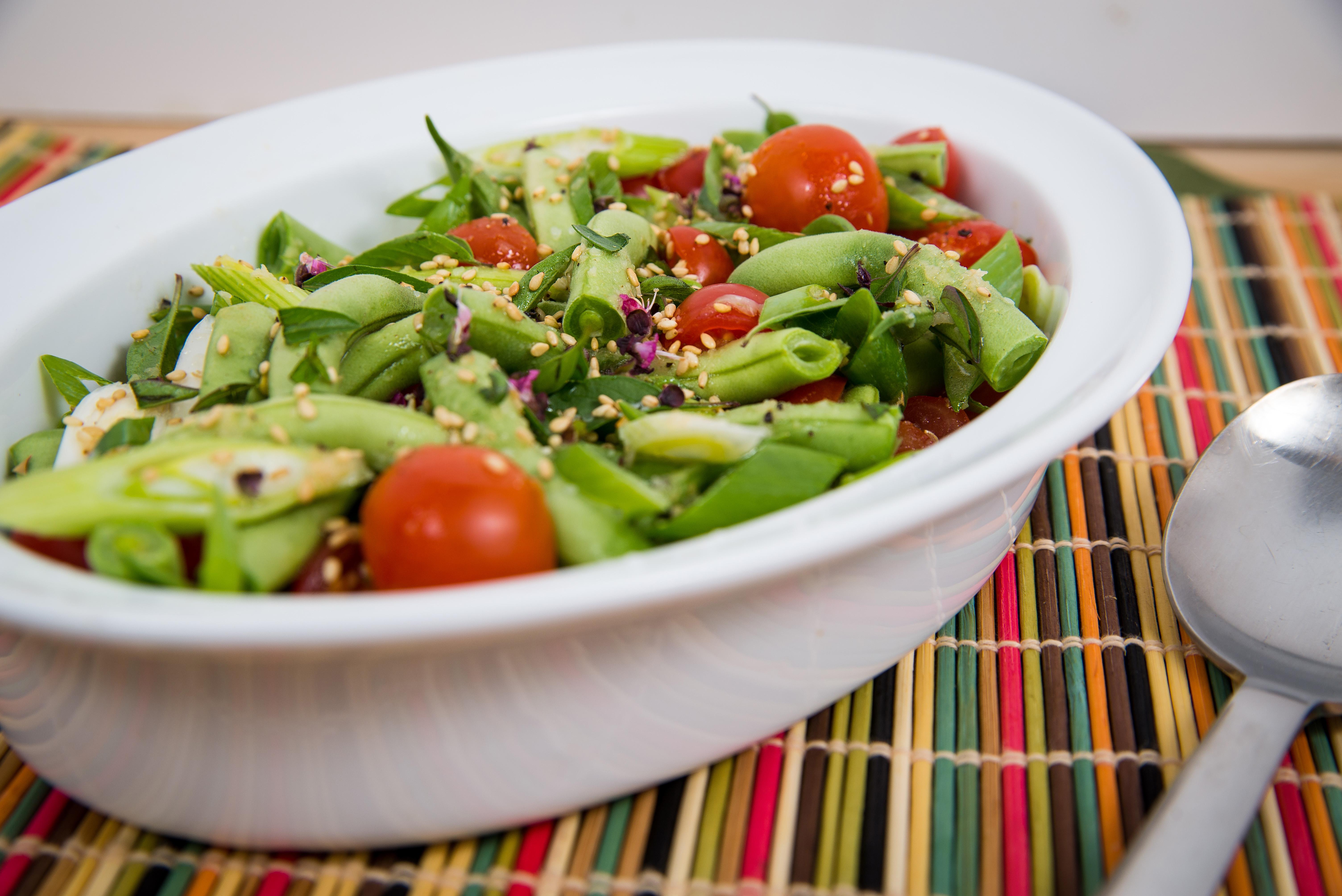 Basil Sesame Green Bean Salad
