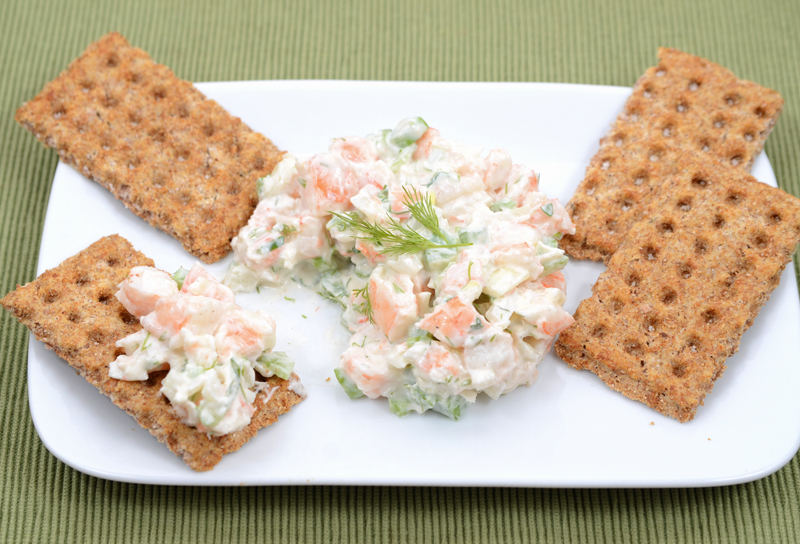 Shrimp Salad on Cracker