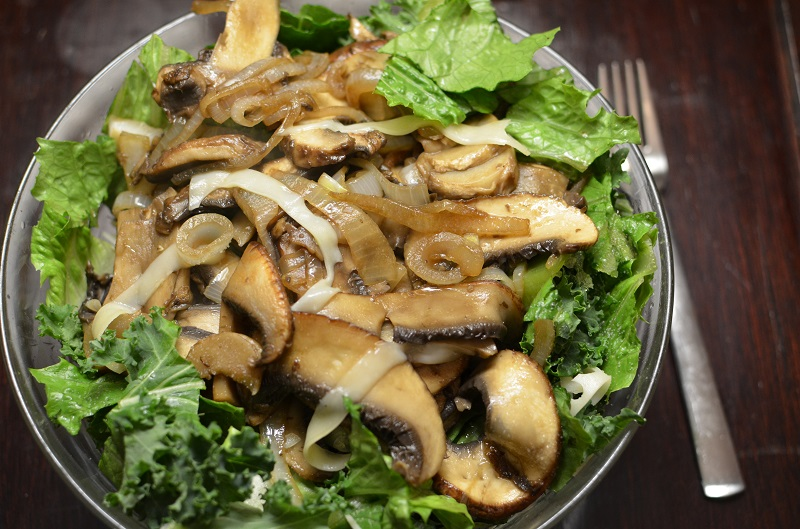 Mushroom and Swiss Cheese Salad - A Well Fed Life