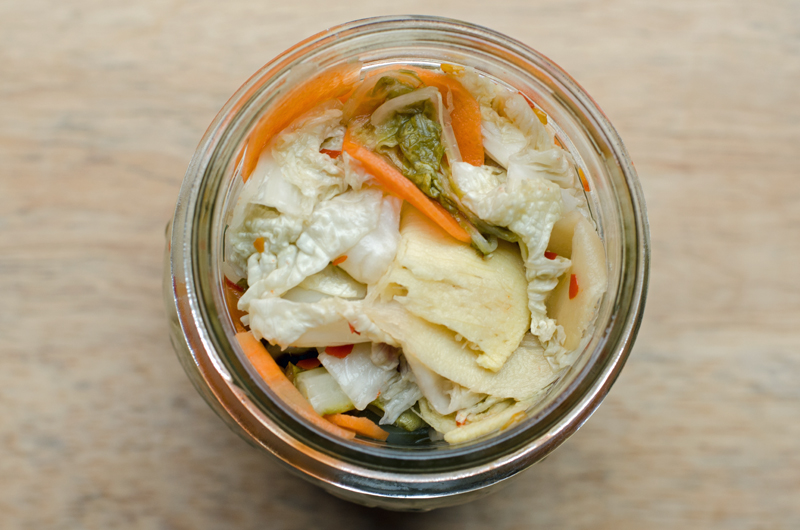 Top View Pickled Cabbage Salad