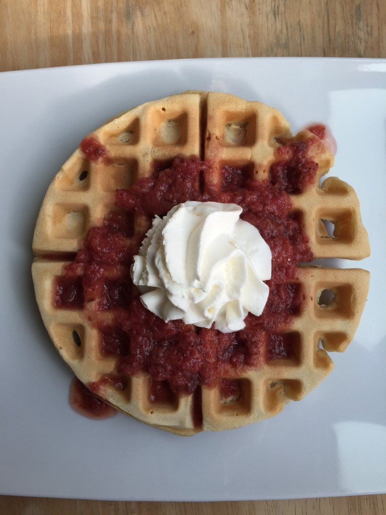 Olive Oil and Brown Sugar Waffles