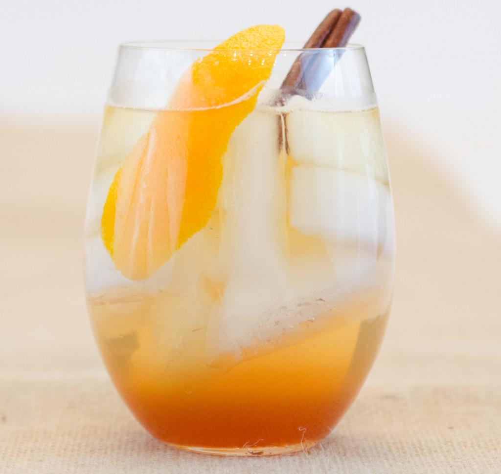 Pumpkin Spice Whiskey Spritzer