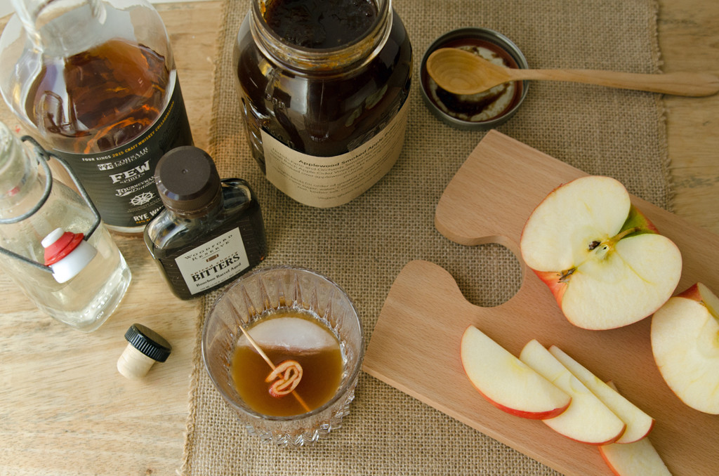 Top View Apple Butter Old Fashioned