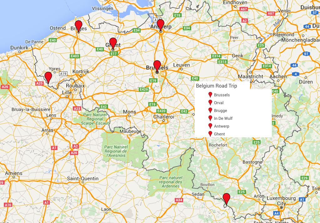 belgium road trip