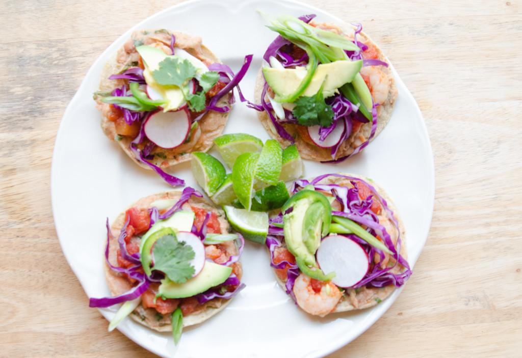 Plate of Shrimp Tostadas