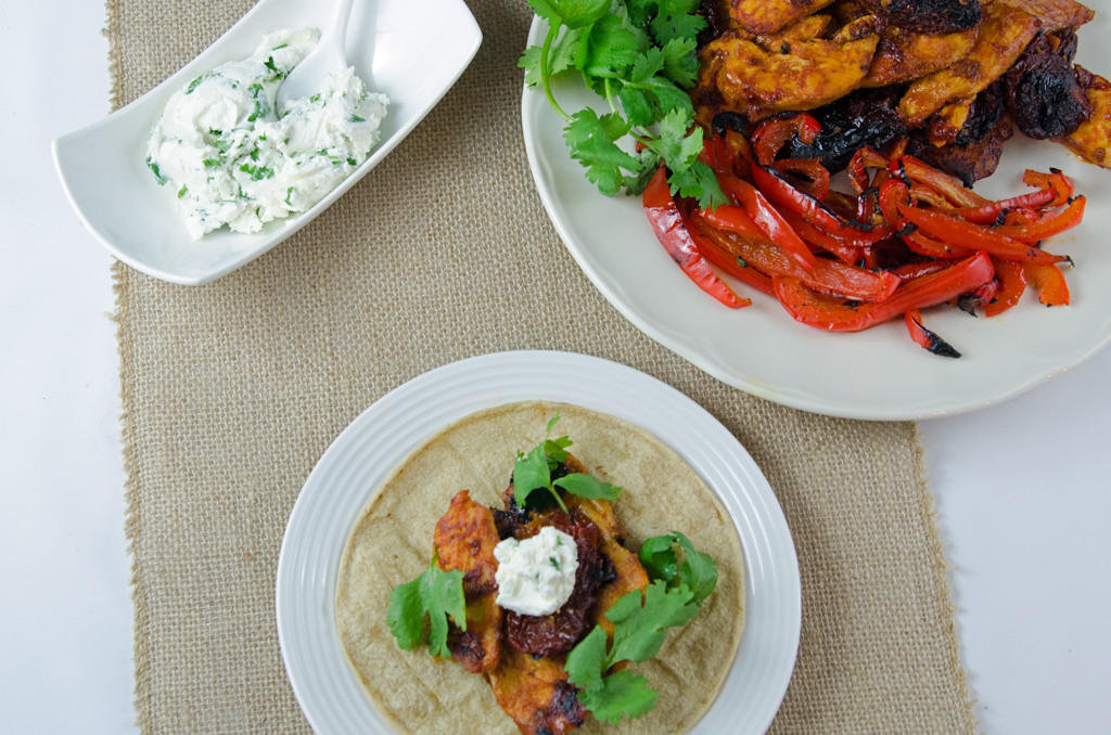 Chipotle Chicken Goat Cheese Tacos