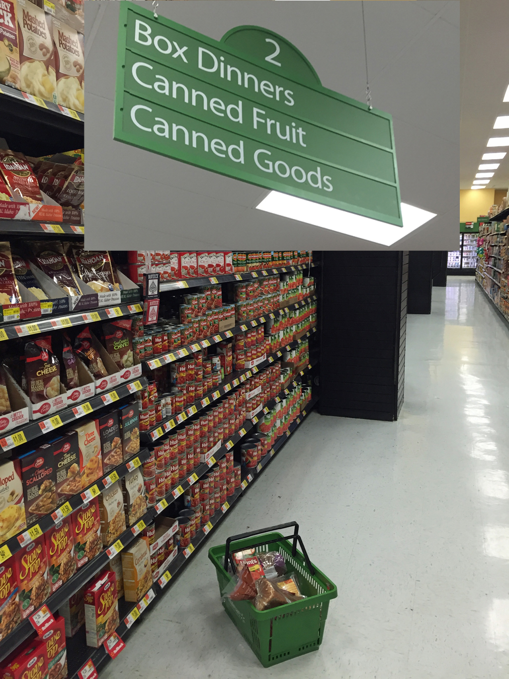 Buying Tomatoes Canned Goods Isle
