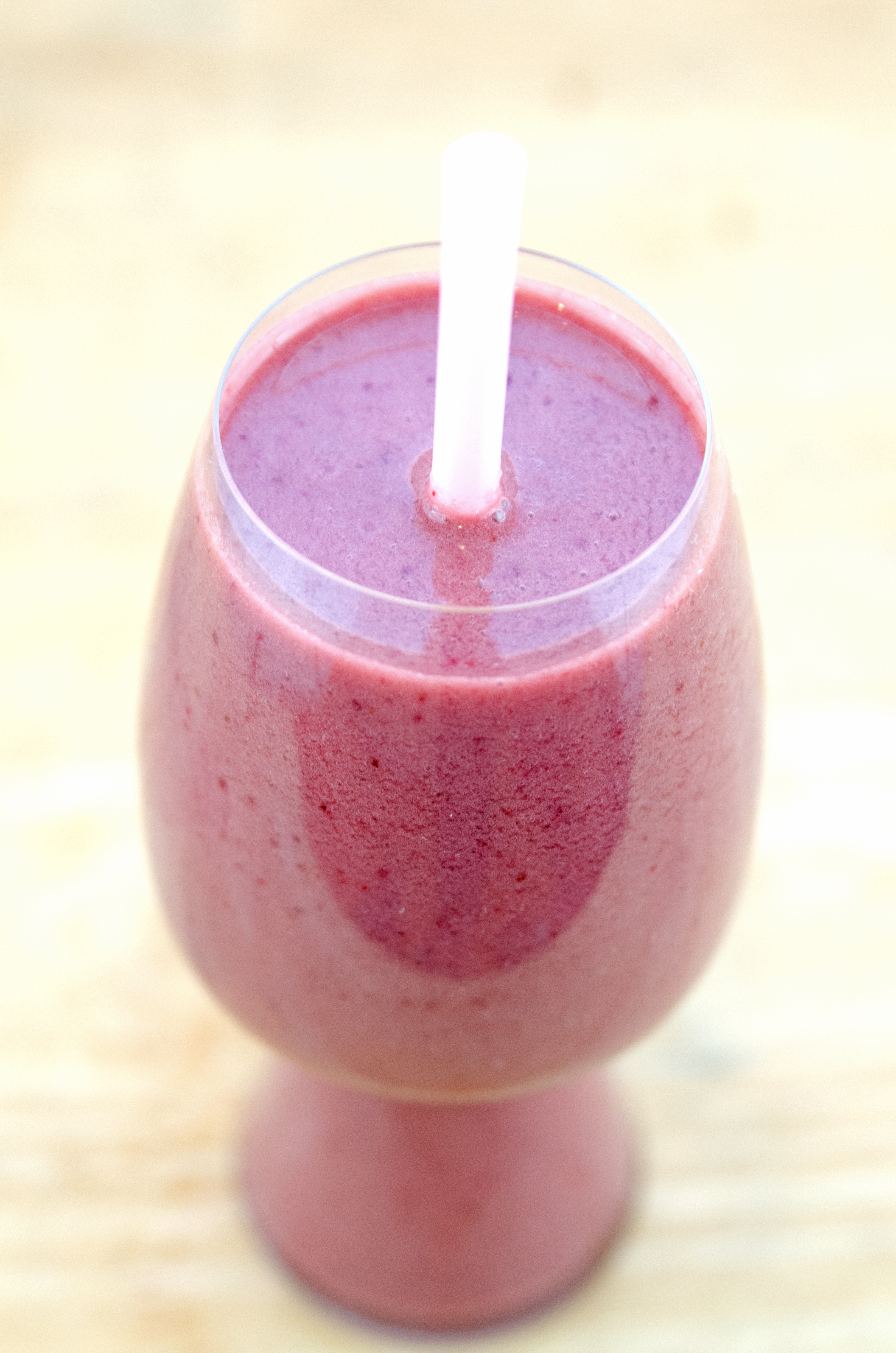 Cherry Vanilla Smoothie from a top
