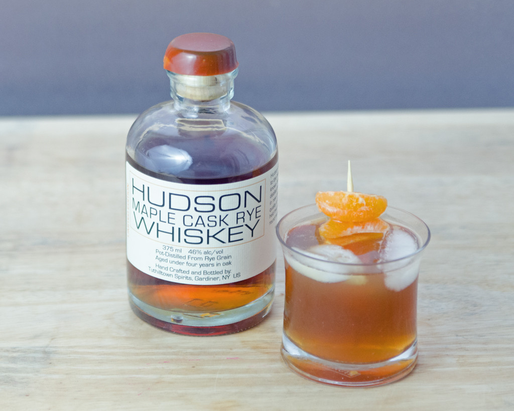 Maple Walnut Old Fashioned with Hudson Whiskey