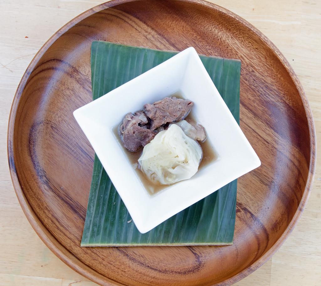 Nilagang Baka in Wood Bowl