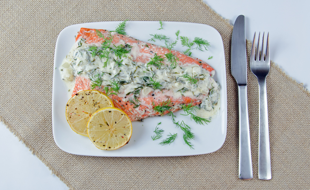Big City Salmon With Martini Sauce Recipe — Dishmaps