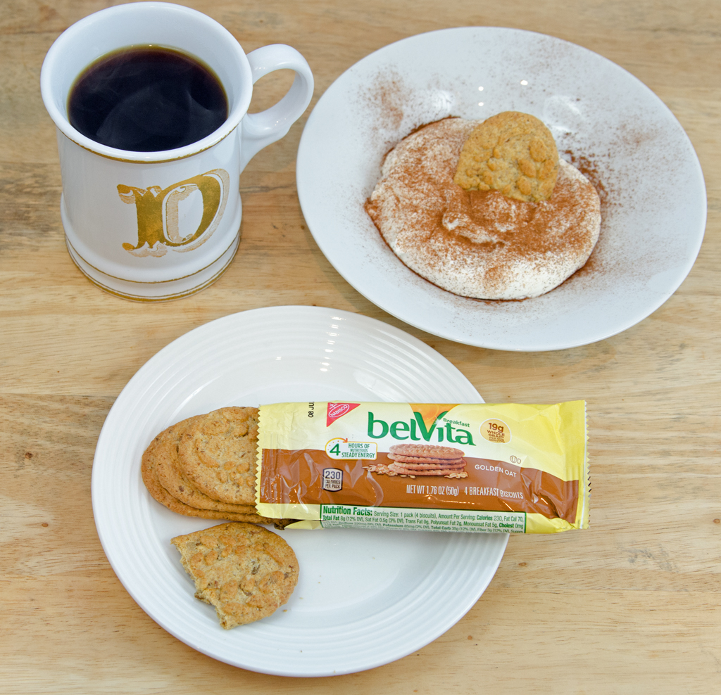 belVita at home with yogurt