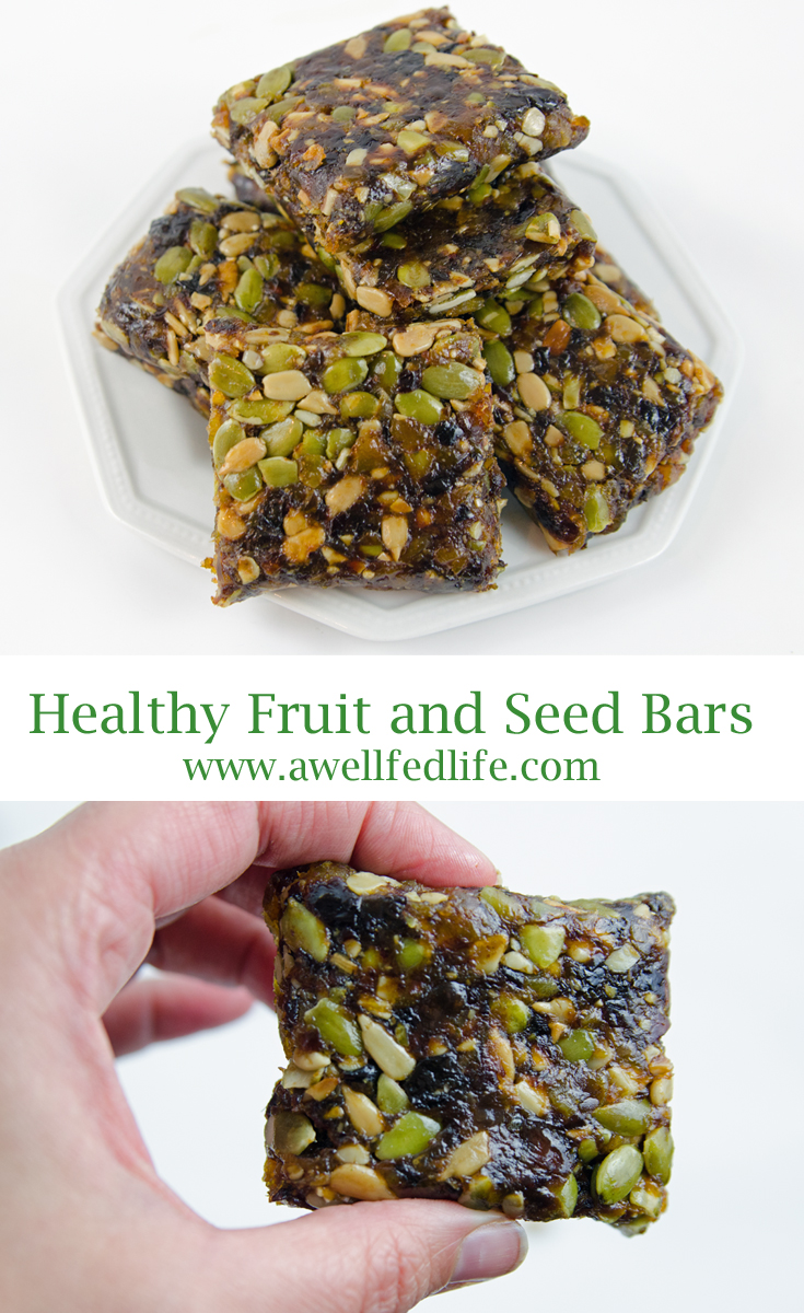 All Natual Healthy Fruit and Seed Bars