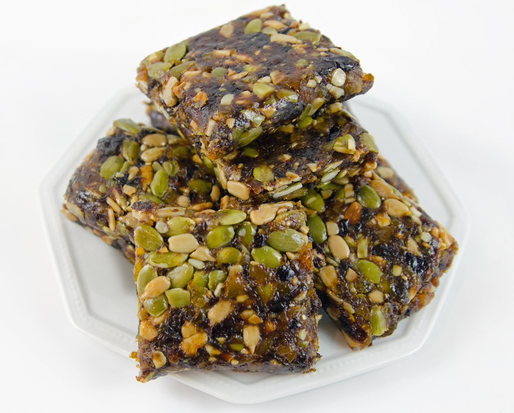 Healthy Fruit and Seed Bars - All Natural Great for Breakfast or Snack