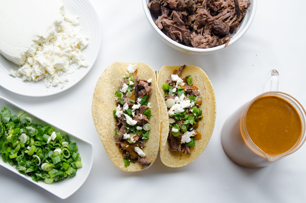 Easy slow Cooker tacos with warm salsa