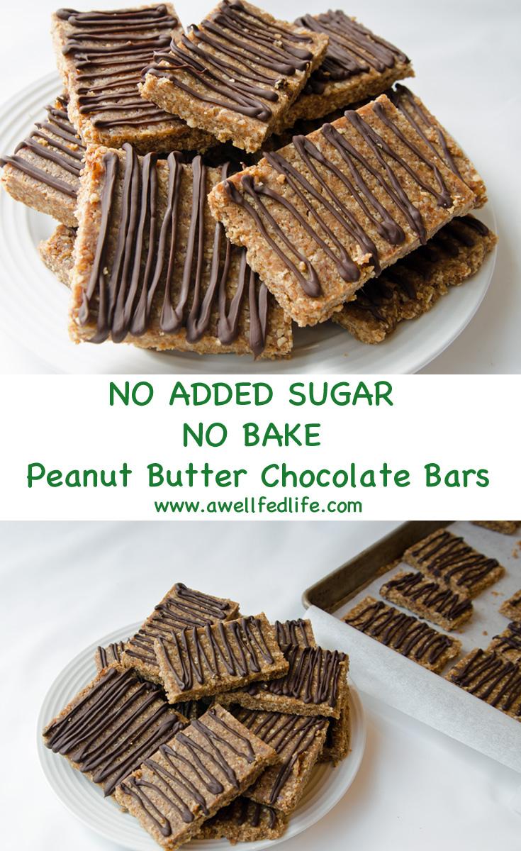No Bake Peanut Butter Chocolate Bars