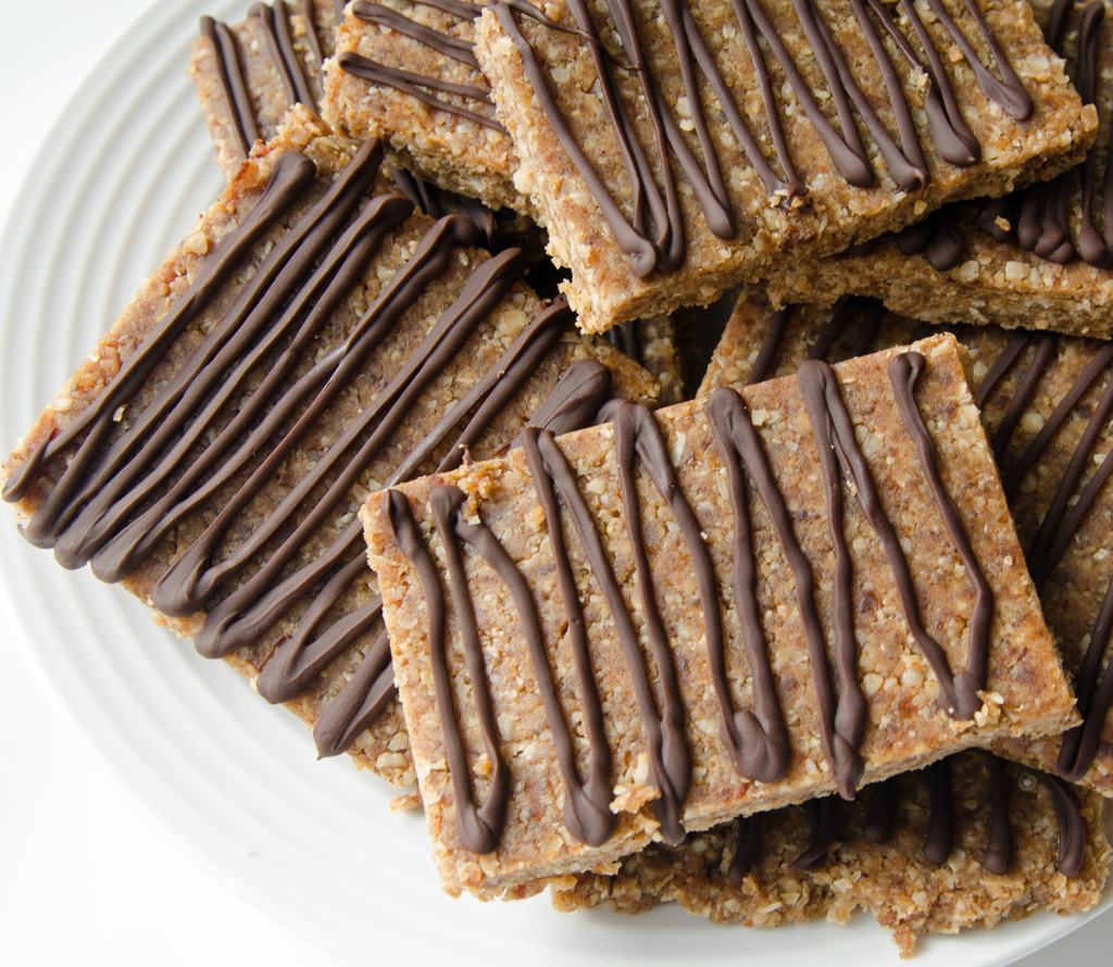 No Sugar Added Peanut Butter Chocolate Bars