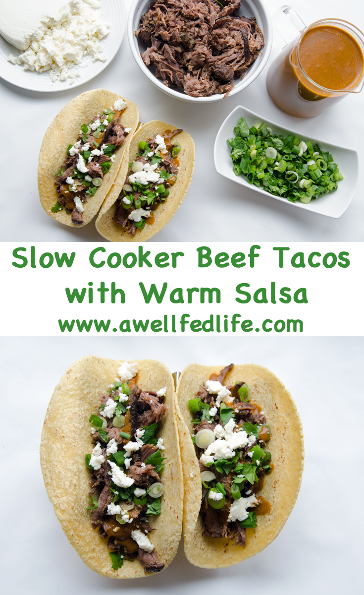 Slow Cooker Tacos with Warm Chipotle Salsa