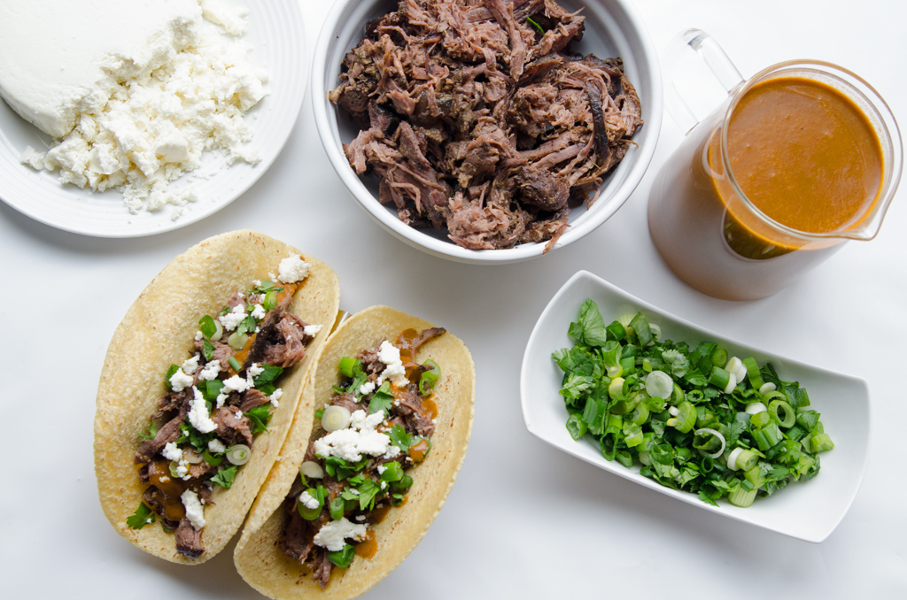 Slow Cooker Tacos with Warm Salsa