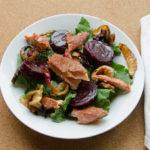 Leek Beet and Salmon Salad