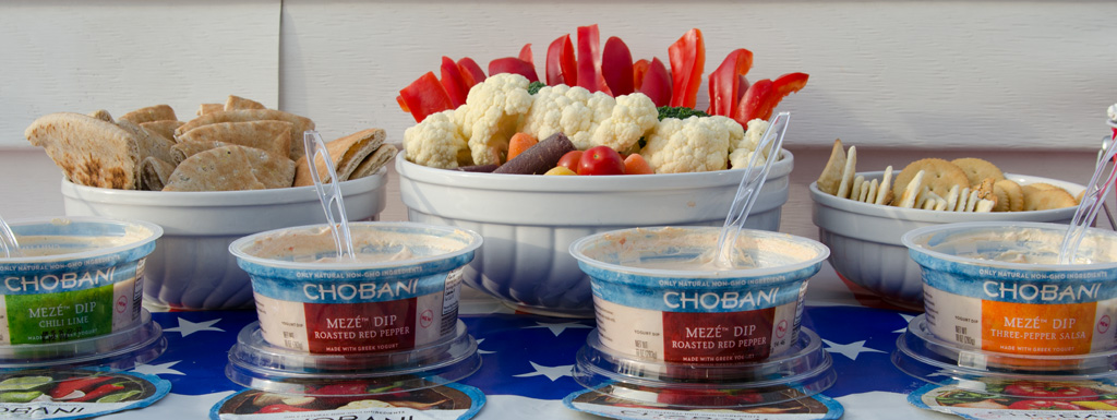 Chobani Meze dips and dippers