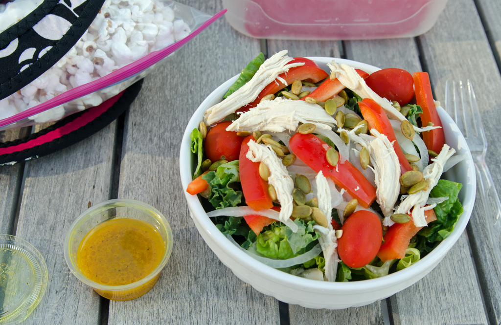 Lunch with Salad and Tumeric Dressing