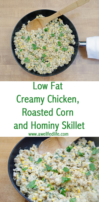 Chicken Roasted Corn Hominy Skillet
