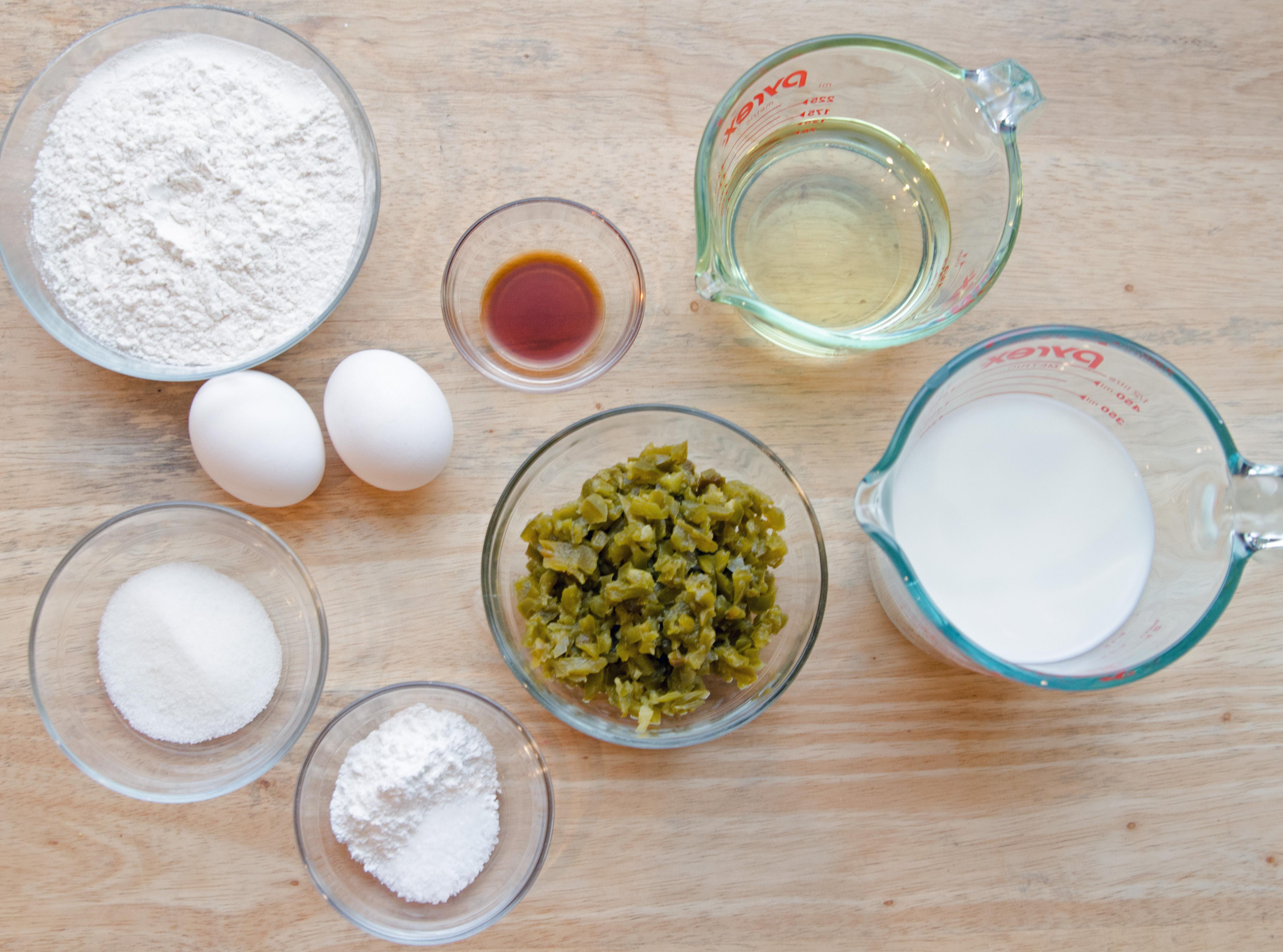Ingredients for Honey Jalapeño Waffles