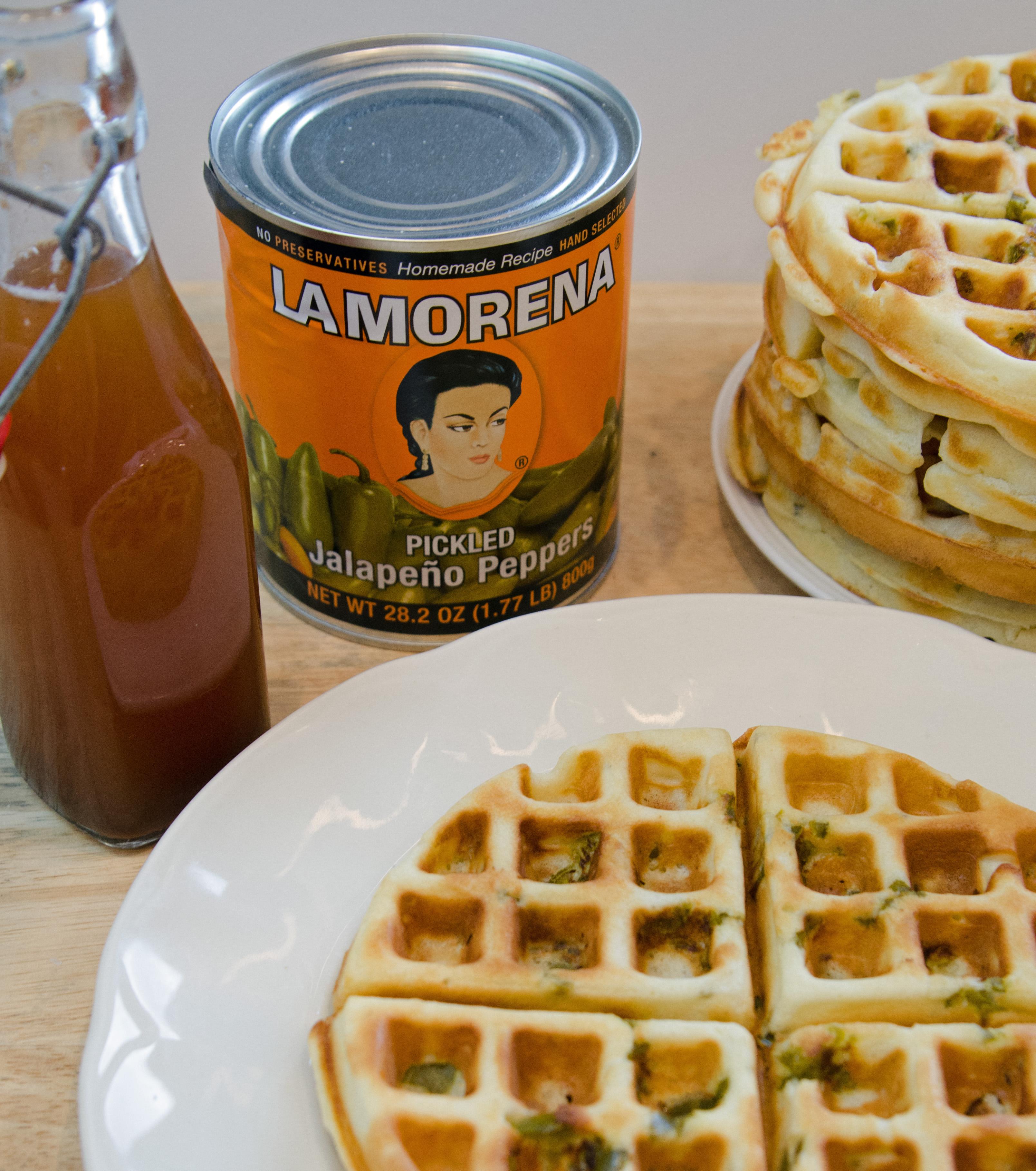Honey Jalapeño Waffles