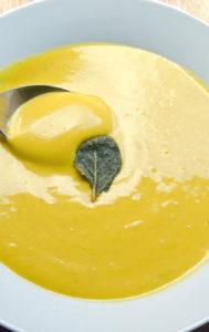 Butternut Squash Soup with Crispy Sage