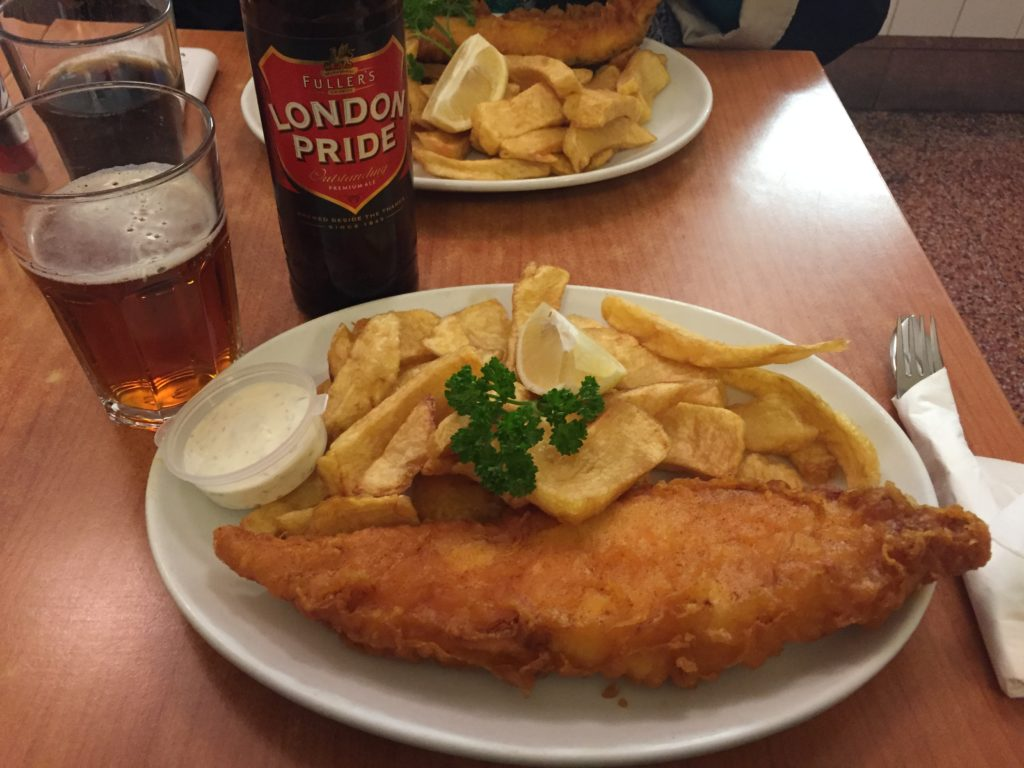 Eating in london a well fed life for Fish and chips london