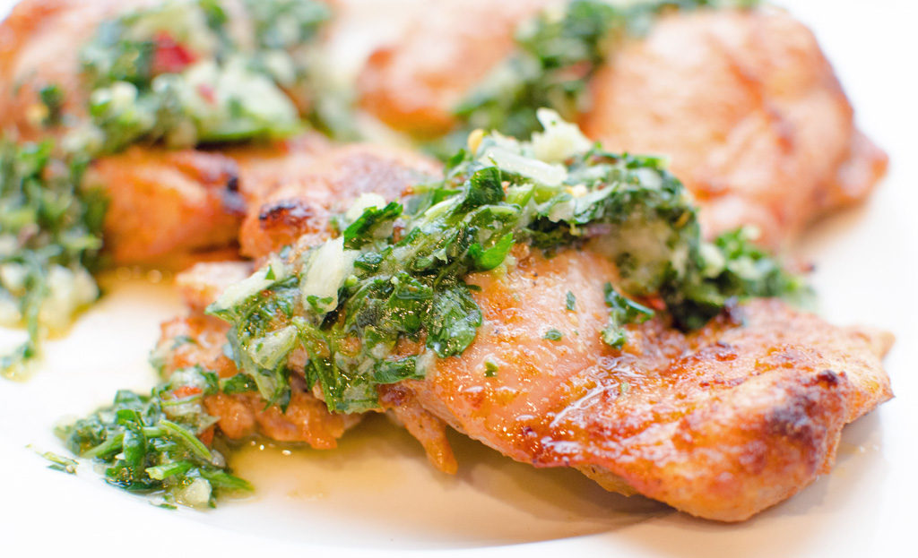 Baked Chicken with Lemon Chimichurri