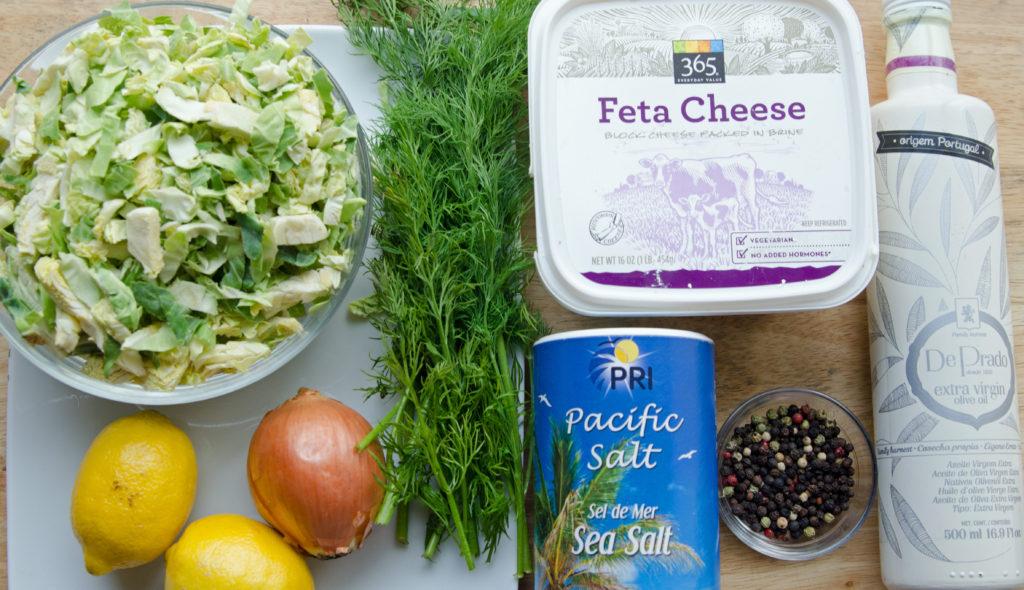 Brussel Sprouts Feta Salad Pistachios Ingredients