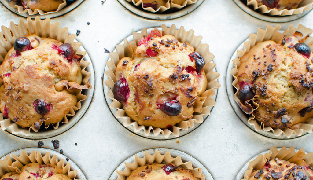 Healthy Cranberry Nut Muffins