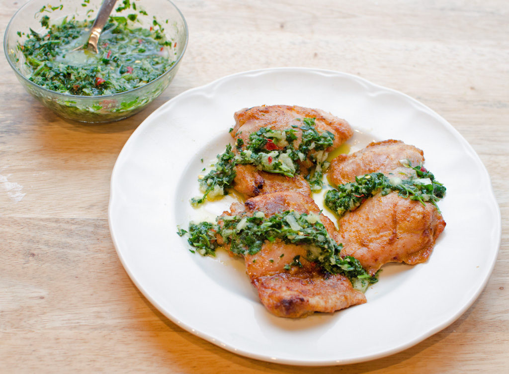 Baked Chicken Lemon Chimichurri