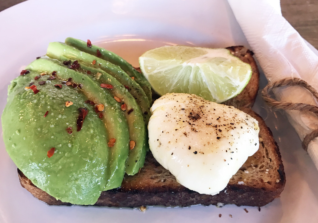 avocado toast Buddy Brew