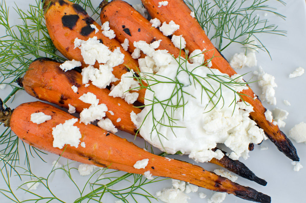 Grilled Carrots with Dill and Yogurt