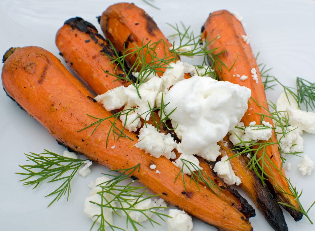 Grilled Carrots with Yogurt and Dill
