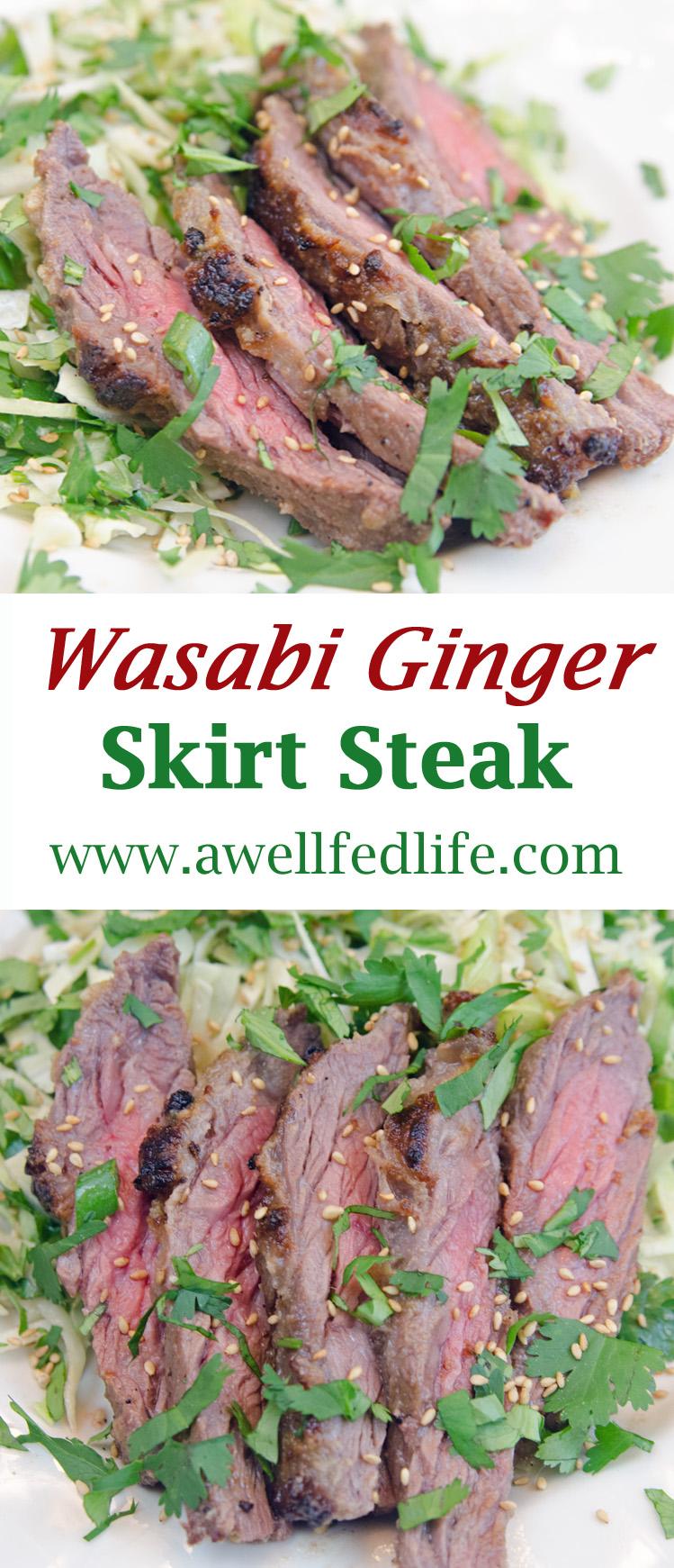 PInterest Wasabi Ginger Skirt Steak