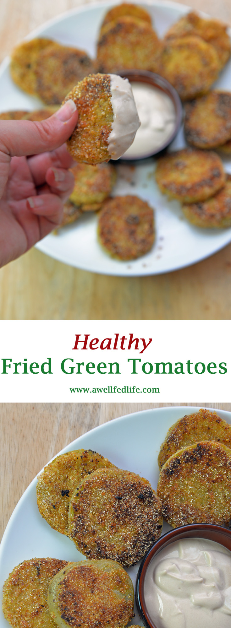 Fried Green Tomatoes and Dijon Dipping Sauce Pinterest