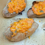 Twice-Baked Sweet Potatoes with Cheddar and Jalapeños